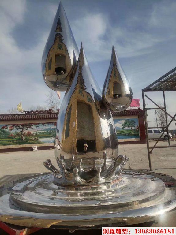 2米高不锈钢水滴镜面效果