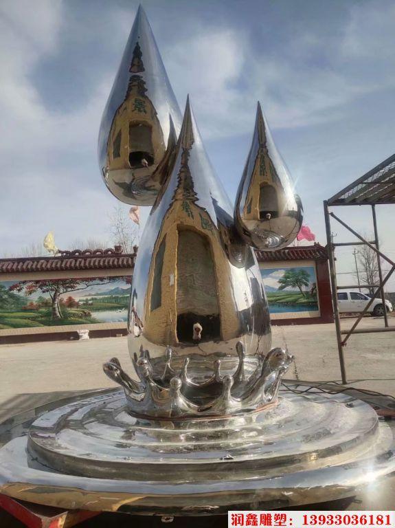 2米高不锈钢水滴镜面效果1