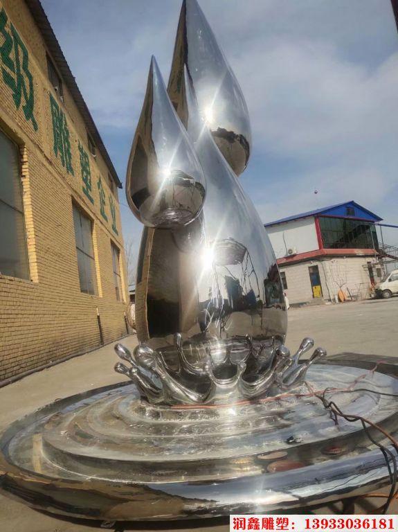 2米高不锈钢水滴镜面效果5