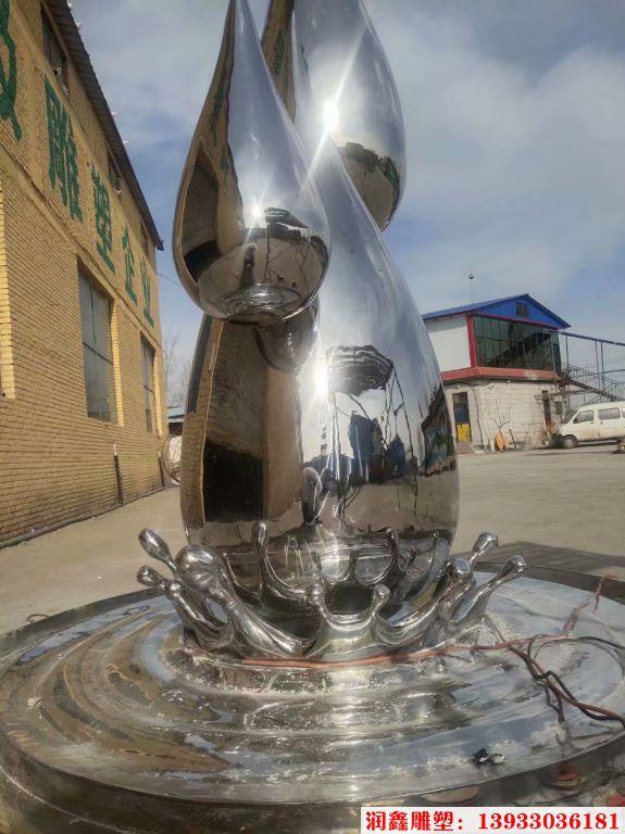2米高不锈钢水滴镜面效果7