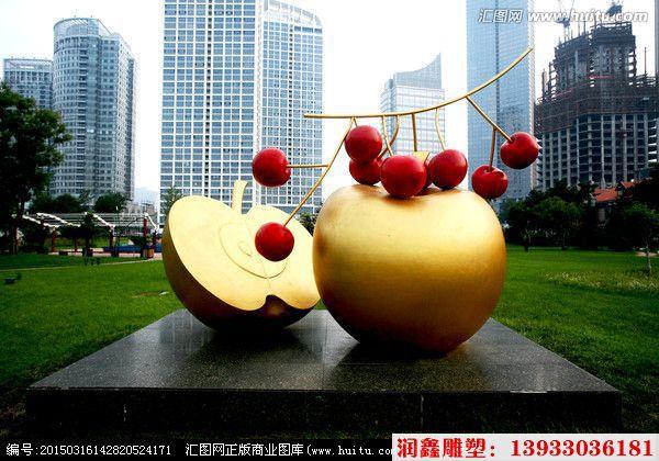水果不锈钢雕塑 公园仿真水果食品雕塑