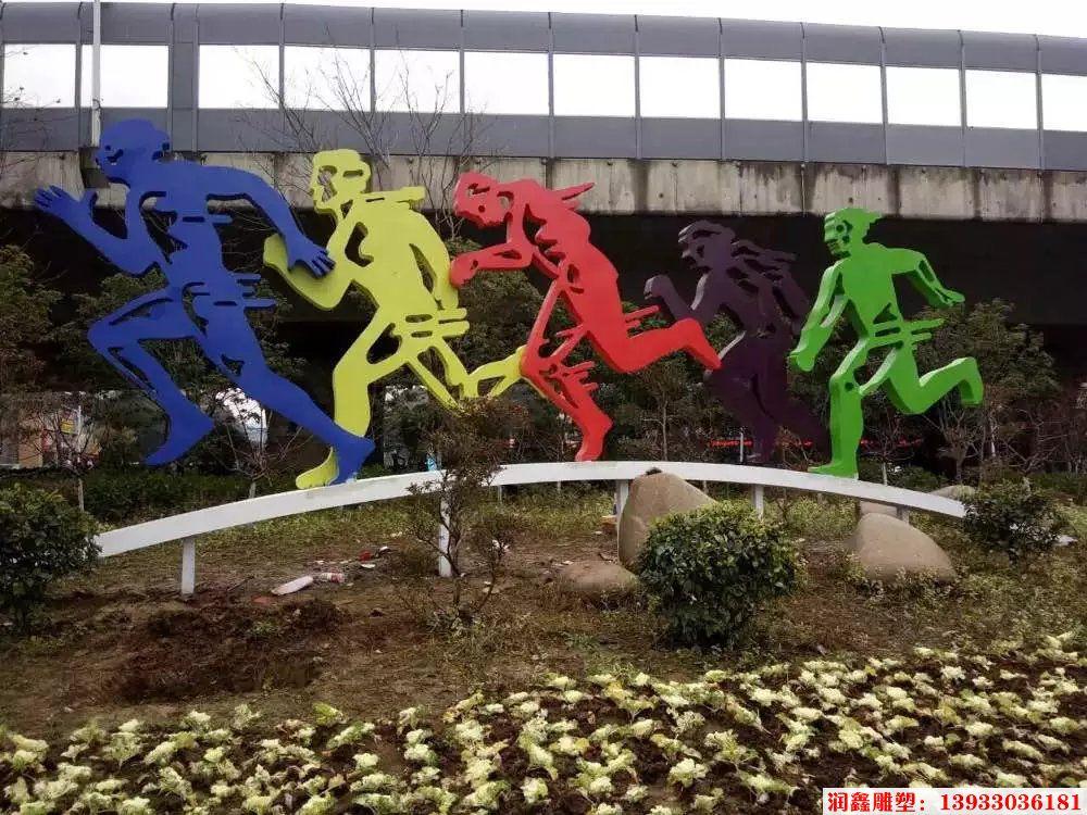 不锈钢剪影运动人雕塑