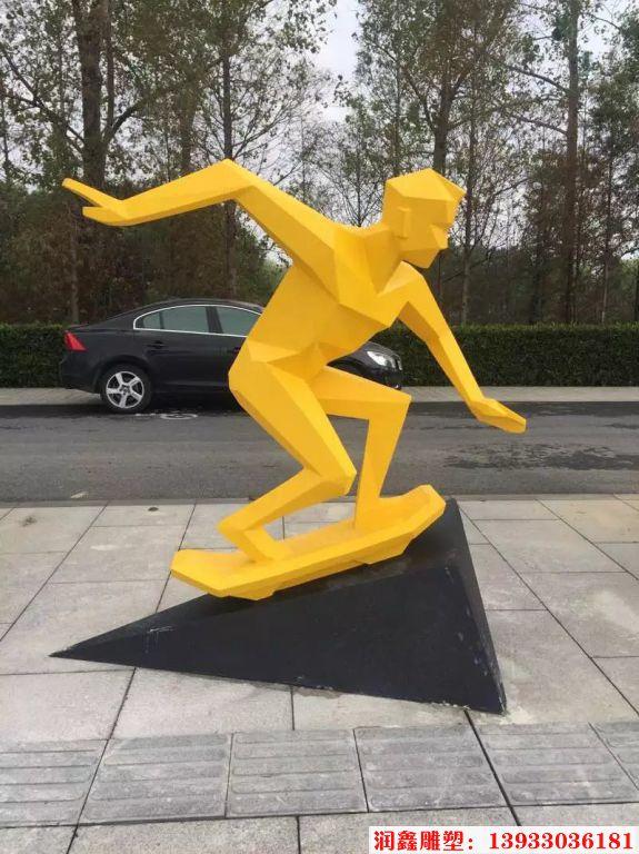 不锈钢体育运动人物雕塑5